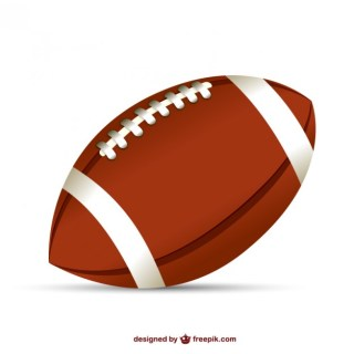 American Football Ball Illustration Free Vector