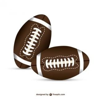 American Football Balls Free Vector
