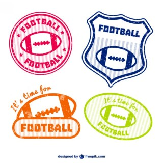 American Football Emblems Free Vector