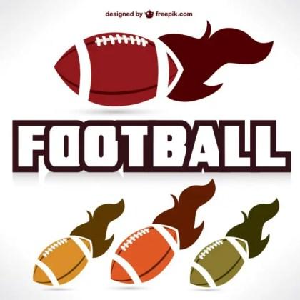 American Football Fast Ball Graphics Free Vector