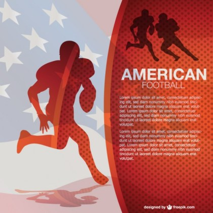 American Football Free Background Free Vector
