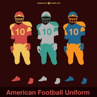 American Football Game Players Background Free Vector