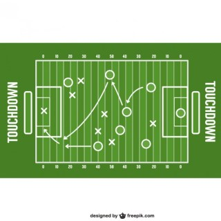American Football Game Strategy Free Vector