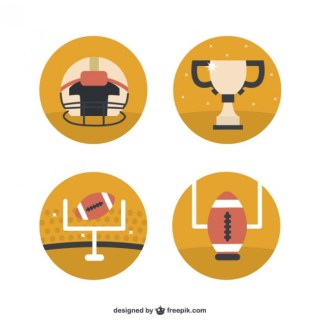 American Football Icons Free Vector