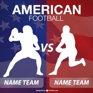 American Football Player Silhouettes Background Free Vector
