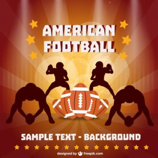 American Football Players Art Free Vector