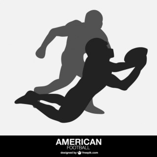 American Football Players Free Vector