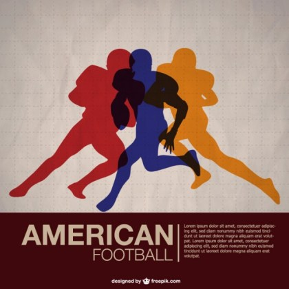 American Football Players Free Wallpaper Free Vector