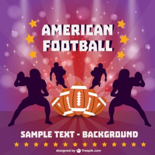 American Football Players Free Wallpaperr Free Vector