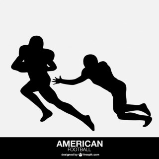 American Football Players Isolated Design Free Vector