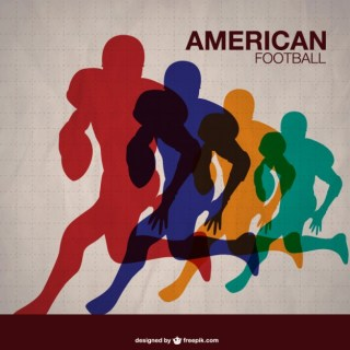 American Football Players Template Free Vector