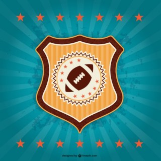 American Football Retro Badge Emblem Free Vector