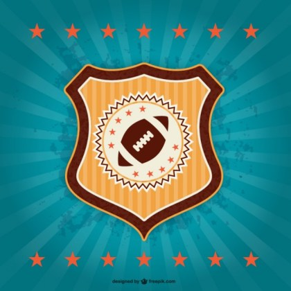 American Football Retro Badge Emblem Free Vector