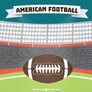 American Football Stadium Background Free Vector
