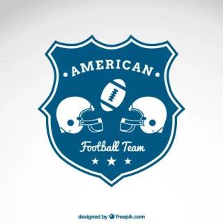 American Football Team Emblem Free Vector