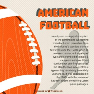 American Football Template Free Vector