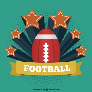 American Football Vintage Template Free Vector