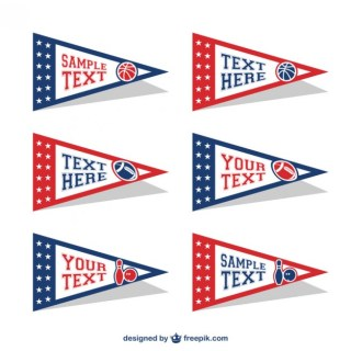 American Stickers Free Vector