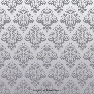 Antique Seamless Pattern with Flowers Free Vector