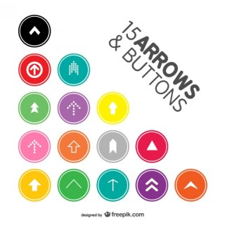 Arrow Buttons Pack Free Vector