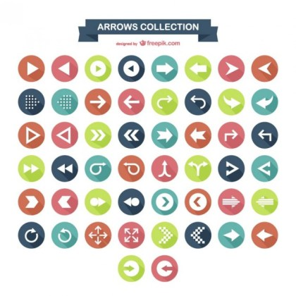 Arrow Icons Collection Free Vector