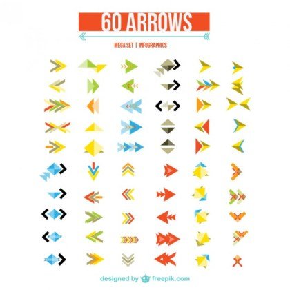 Arrows for Web Design Free Vector