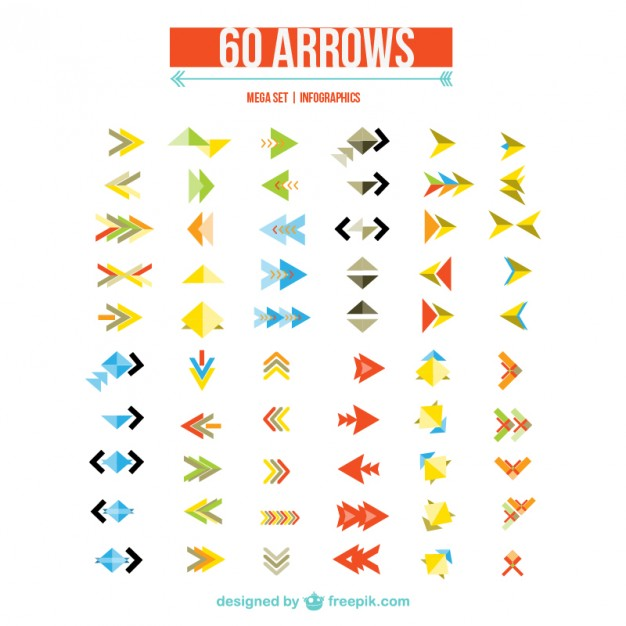 Arrows for Web Design Free Vector