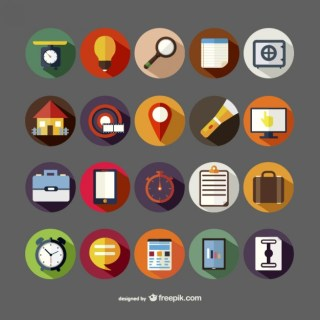 Assorted Round Icons Free Vector