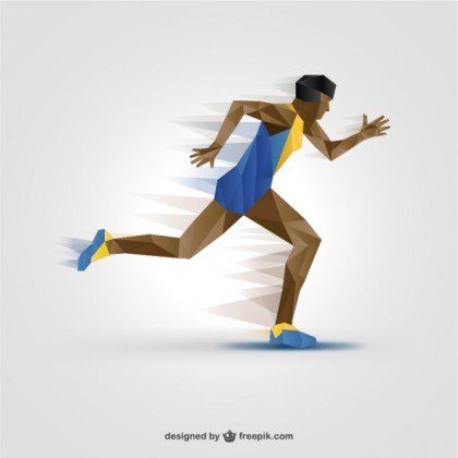 Athlete Silhouette Free Free Vector