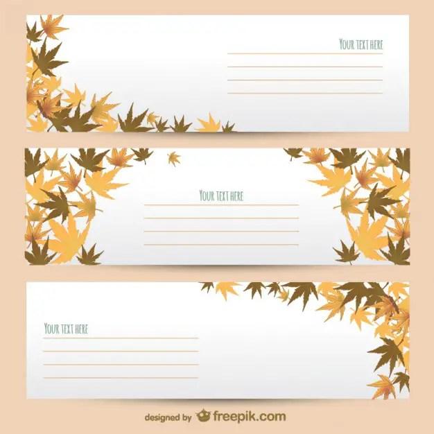 Autumn Banner Templates Free Vector