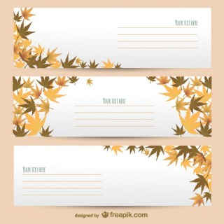 Autumn Banner Templates Free Vector
