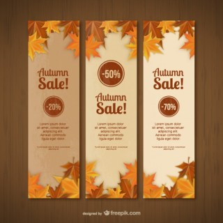 Autumn Sales Banner Templates Free Vector
