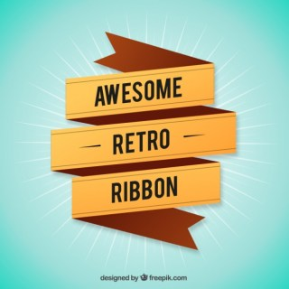 Awesome Retro Ribbon Free Vector