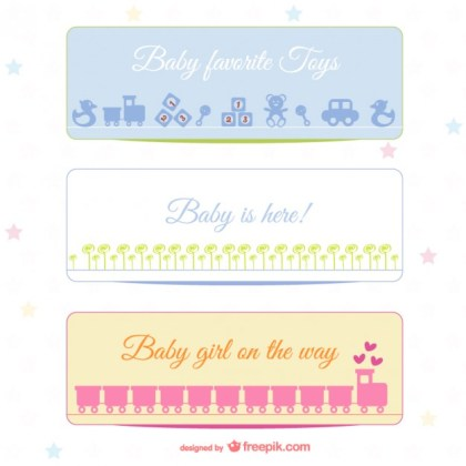 Baby Banners Free Vector