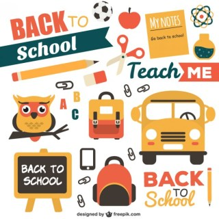 Back to School Pack Free Vector