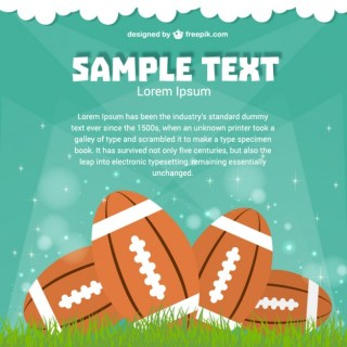 Background American Football Game Free Vector