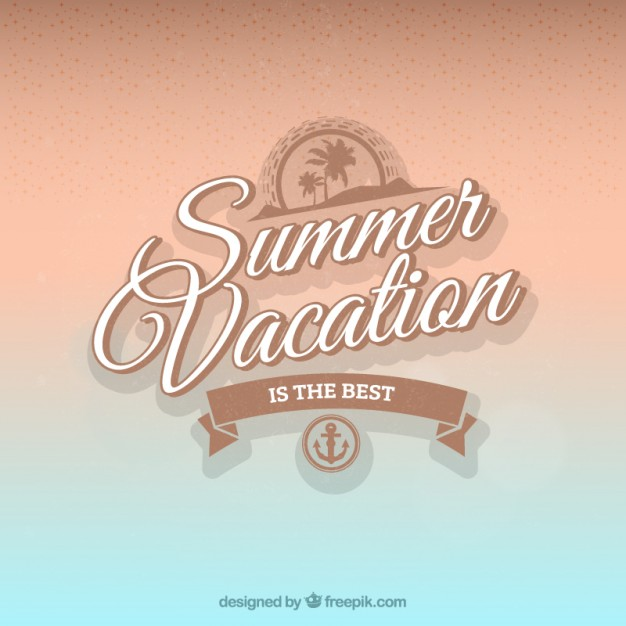 Background of Summer Vacation Free Vector