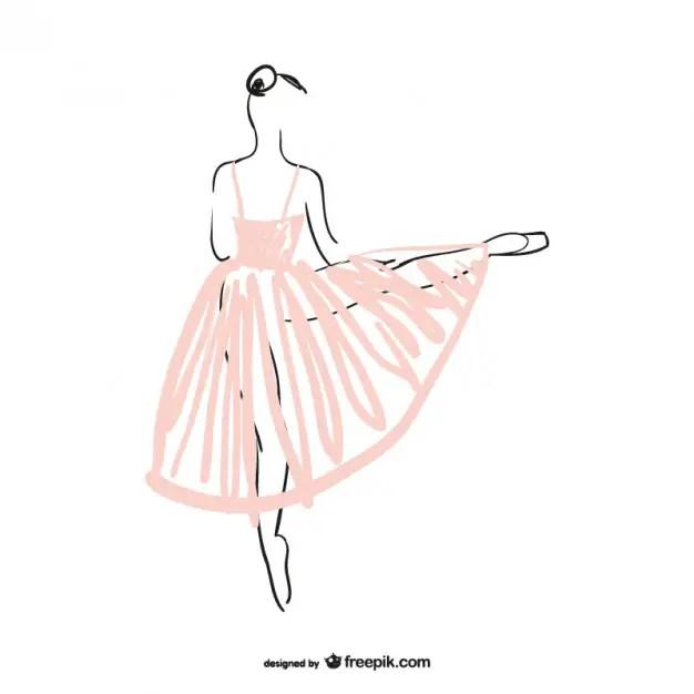 Ballerina Illustration Free Vector