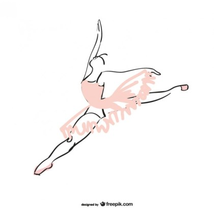 Ballet Dancer Free Vector