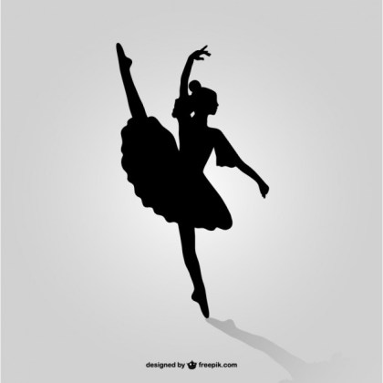 Ballet Dancer Silhouette Art Free Vector