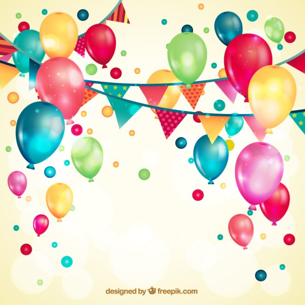 Balloons and Garlands Free Vector