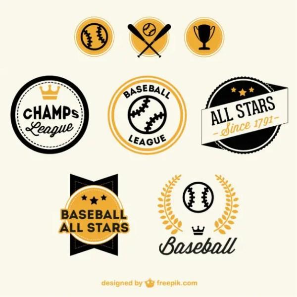 Baseball Badges Free Free Vector