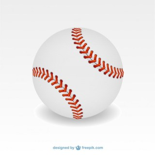 Baseball Ball Illustration Free Vector