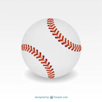 Baseball Ball Illustration Free Vector