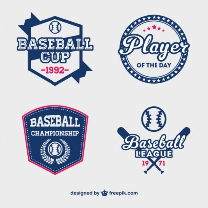 Baseball Cup Badges Free Free Vector