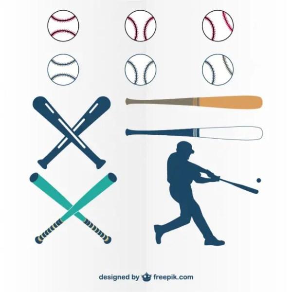 Baseball of Graphics Free Vector