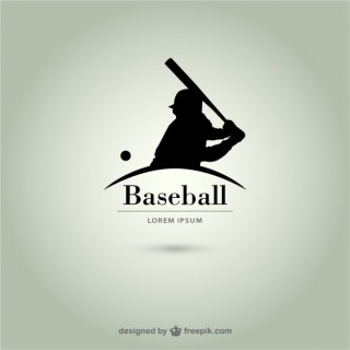 Baseball Player Silhouette Logo Free Vector