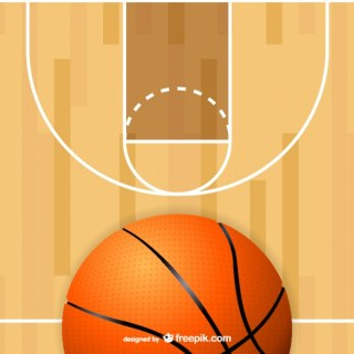 Basketball Court Ball Free Vector