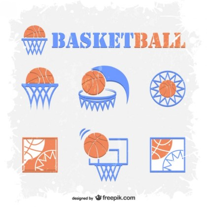 Basketball Emblems Free Free Vector