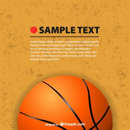 Basketball Free Backgound Free Vector